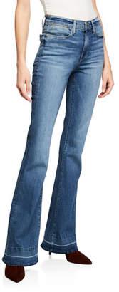 Frame Le High Flare Wide-Leg Jeans w/ Released Hem