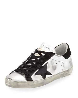 Golden Goose Star-Embellished Leather Sneakers