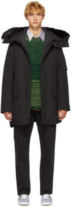 Kenzo Black Technical Canvas Parka