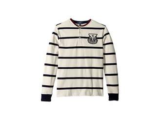 Polo Ralph Lauren Striped Cotton Mesh Henley (Big Kids)