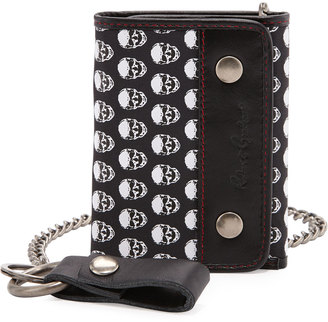 Robert Graham Skull-Print Leather Chain Wallet $55 thestylecure.com