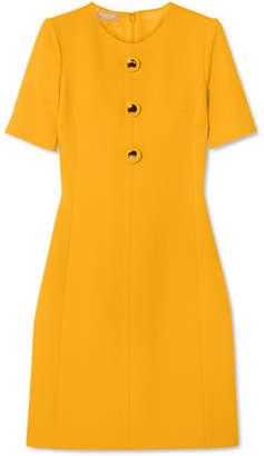 Michael Kors Wool-blend Crepe Dress - Yellow