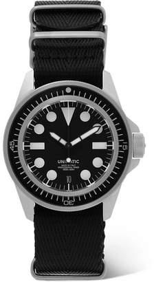 Unimatic U1-En Bgw-09 Automatic Brushed Silicone And Webbing Watch