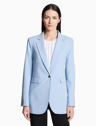 Calvin Klein luxe single button long jacket