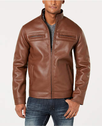 INC International Concepts I.n.c. Men Full-Zip Faux-Leather Jacket