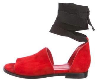 Ellery Suede Wrap-Around Sandals