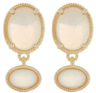 Judith Ripka 14K Gold Plated Sterling Silver Mardi Gras Double Gemstone Dangle Earrings