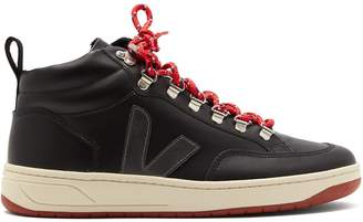 Veja Roraima Bastille leather high-top trainers