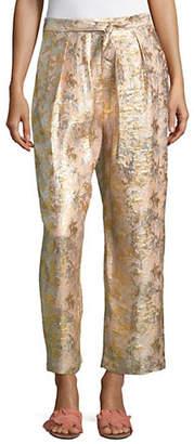 Masscob Metallic Silk-Blend Pants