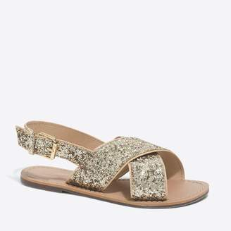 J.Crew Factory Girls' glitter sandals