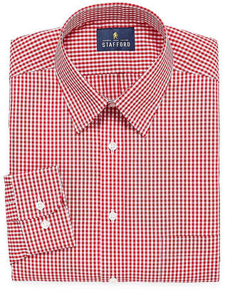 STAFFORD Stafford Travel Performance Super Shirt Mens Point Collar Long Sleeve Wrinkle Free Dress Shirt