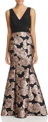 AQUA Floral Brocade Gown - 100% Exclusive $268 thestylecure.com