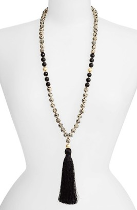 Women's Love's Affect Elle Semiprecious Stone Tassel Necklace $68 thestylecure.com