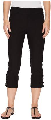 Tribal Stretch Bengaline 22 Pull-On Flatten It Capris with Lace-Up Detail Women's Capri