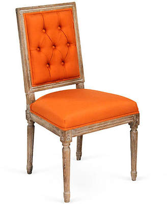 One Kings Lane Valeria Tufted Side Chair - Persimmon