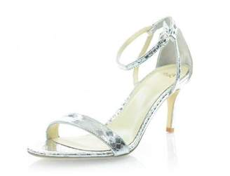 Butter Shoes Silver Leather Sandal
