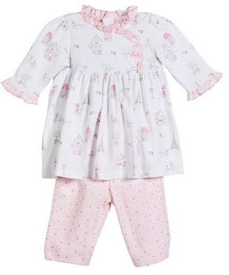 Kissy Kissy Parisian Stroll Printed Dress Set, Size 3-24 Months