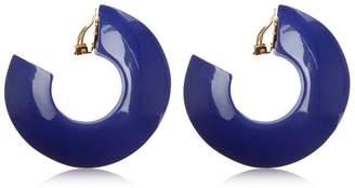 Marni Enameled Hoop Clip-On Earrings