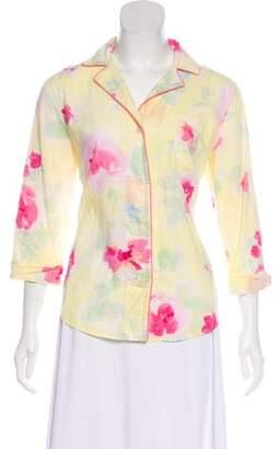 Lauren Ralph Lauren Floral Print Pajama Top