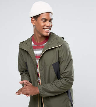Herschel Voyage Packable Wind Runner Jacket in Green/Black UK EXCLUSIVE