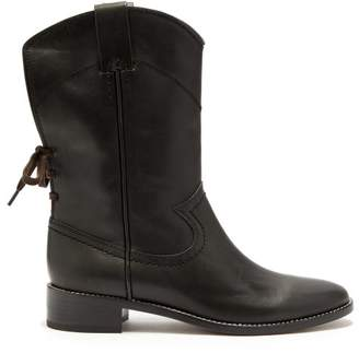 See by Chloe Western Leather Boots - Womens - Black