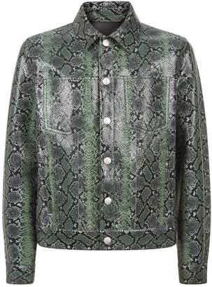 Givenchy Snakeskin Print Leather Jacket