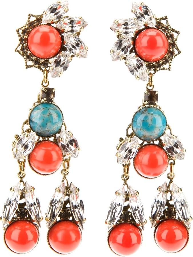 Anton Heunis crystal drop earrings