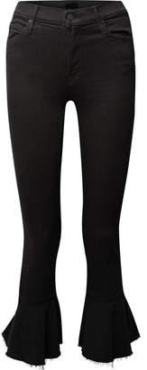 Mother The Cha Cha Ruffled High-rise Slim-leg Jeans