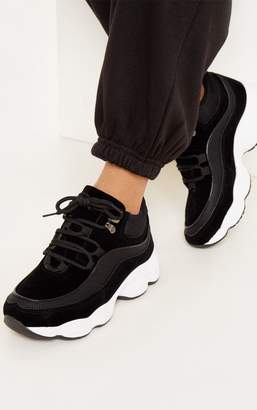PrettyLittleThing Black Lace Up Hiker Chunky Trainer