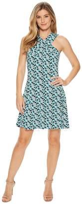 MICHAEL Michael Kors Carnations Cross Neck Dress Women's Dress