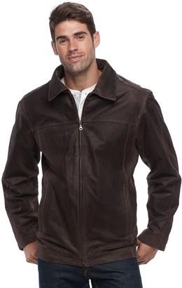 Men's Vintage Leather Straight-Bottom Leather Jacket