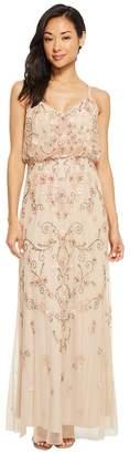 Adrianna Papell Petite Antique Bead Blousson Slip Dress Women's Dress