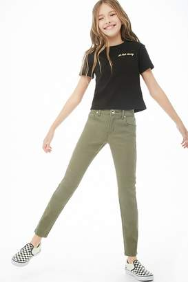 Forever 21 Girls Straight Ankle Jeans (Kids)