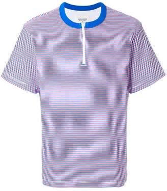 Noon Goons zip detail striped T-shirt
