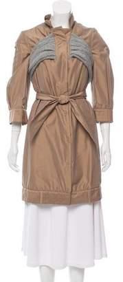 Brunello Cucinelli Lightweight Knit-Trimmed Jacket w/ Tags