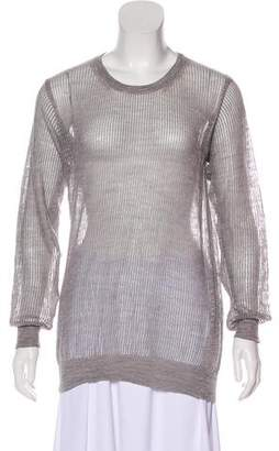 Closed Sheer Knit Top