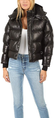 IRO Collyn Leather Puffer Coat