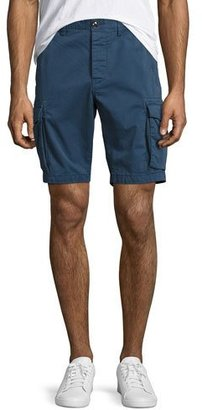 Michael Kors Cotton-Twill Cargo Shorts, Navy $98 thestylecure.com