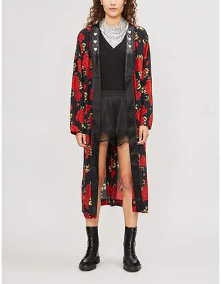 The Kooples Embellished floral-print silk-chiffon jacket