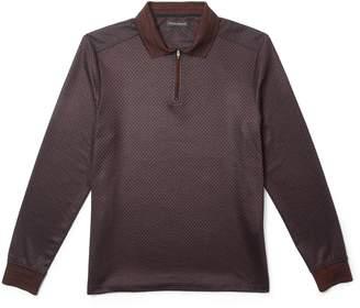 Vince Camuto Printed Quarter-zip Shirt