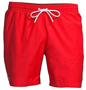 Lacoste Men's Solid Swim Trunks