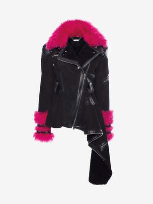 Alexander McQueen Shearling Biker Jacket