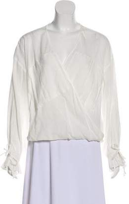AllSaints Surplice Neck Long Sleeve Top
