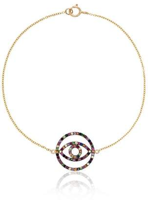 Ileana Makri 18k yellow gold Eye sapphire rhodolite tsavorite bracelet
