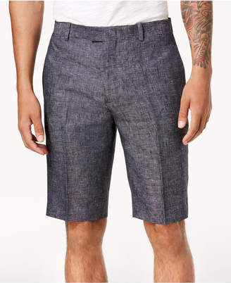 "INC International Concepts I.N.C. Men's Textured Linen 10"" Shorts, Created for Macy's"