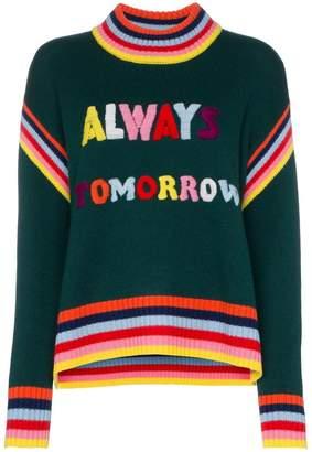 Mira Mikati 'Always Tomorrow' embroidered chunky wool sweater