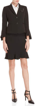 Tahari Arthur S. Levine Petite Two-Piece Pinstripe Skirt Suit