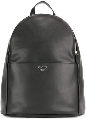 Emporio Armani logo plaque backpack