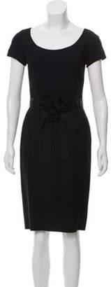 Christian Dior Cap Sleeve Sheath Dress Black Cap Sleeve Sheath Dress