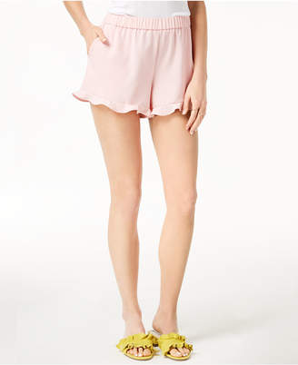 Maison Jules Pull-On Ruffle-Trim Shorts, Created for Macy's
